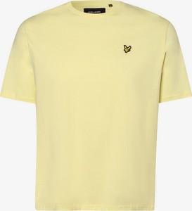 Żółty t-shirt Lyle & Scott w stylu casual z dżerseju