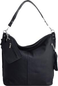 Czarna torebka TrendyTorebki matowa duża ze skóry