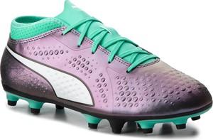Fioletowe buty sportowe dziecięce Puma sznurowane