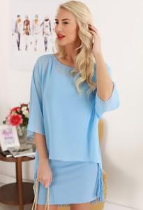 Niebieska sukienka IVET
