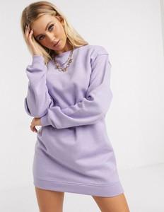Fioletowa sukienka Daisy Street z dresówki oversize
