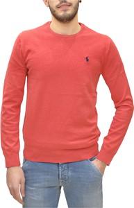 Czerwony sweter POLO RALPH LAUREN z bawełny