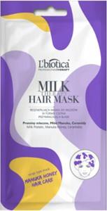 L'Biotica L'BIOTICA Milk Therapy Hair Mask - regenerująca maska do włosów w formie czepka - 30 ml