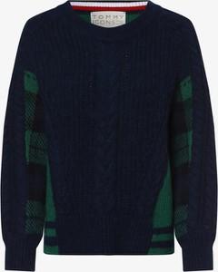 Niebieski sweter Tommy Hilfiger z dzianiny w stylu casual