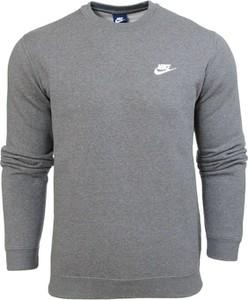 Szara bluza nike bez wzorów w street stylu