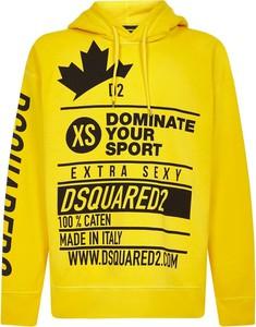 Żółty sweter Dsquared2 z bawełny