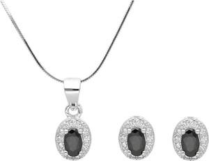 Irbis.style srebrny komplet biżuterii - kolczyki i zawieszka