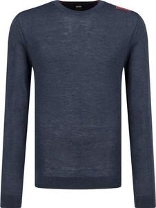 Niebieski sweter Boss Athleisure z wełny