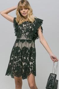 Czarna sukienka Monnari rozkloszowana z bawełny