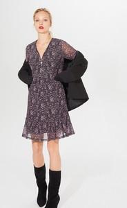 Sukienka Mohito z długim rękawem mini w stylu casual