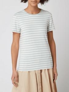 Miętowy t-shirt Marc O'Polo DENIM z okrągłym dekoltem z krótkim rękawem