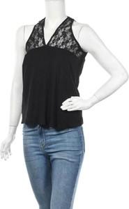 Czarna bluzka Plus Fine z dekoltem w kształcie litery v