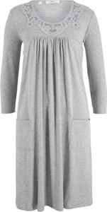 Sukienka bonprix bpc bonprix collection z dżerseju midi z długim rękawem