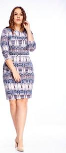 Sukienka Ptakmoda.com w stylu casual z okrągłym dekoltem mini