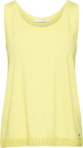 Żółta bluzka Tom Tailor Denim bez rękawów z bawełny