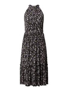 Czarna sukienka Michael Kors w stylu casual bez rękawów midi