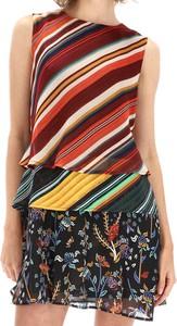 Sukienka Desigual bez rękawów w stylu casual