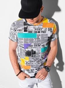 T-shirt Ombre z nadrukiem z krótkim rękawem z bawełny
