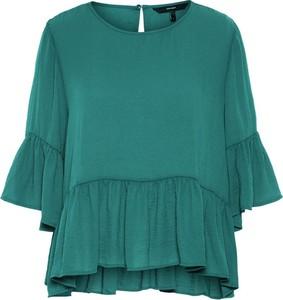 Zielona bluzka Vero Moda w stylu boho