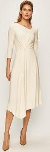 Sukienka Patrizia Pepe z tkaniny midi z długim rękawem