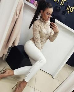 Butiklatika.pl bluzka lace beige