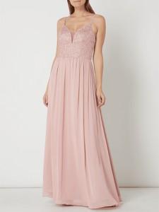 Różowa sukienka Mascara maxi bez rękawów