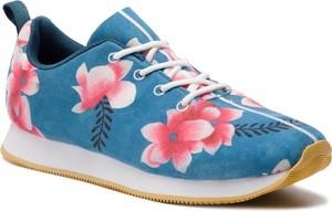 Niebieskie buty sportowe Desigual w sportowym stylu sznurowane