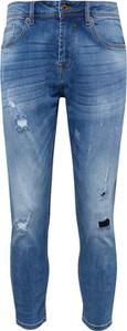 Niebieskie jeansy Solid w street stylu z jeansu