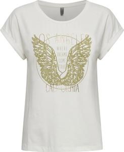 T-shirt Culture w młodzieżowym stylu z okrągłym dekoltem z nadrukiem