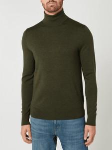 Zielony sweter Calvin Klein z wełny w stylu casual