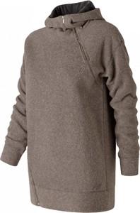 Brązowa bluza New Balance w sportowym stylu z jedwabiu