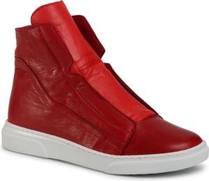 Czerwone buty sportowe Sergio Bardi