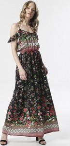 Sukienka born2be z krótkim rękawem w stylu boho z odkrytymi ramionami