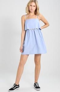 Niebieska sukienka TWINTIP mini bez rękawów