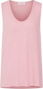 Różowa bluzka American Vintage bez rękawów z okrągłym dekoltem