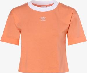 T-shirt Adidas Originals z bawełny z okrągłym dekoltem