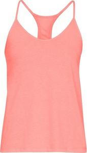 Różowy t-shirt Under Armour w sportowym stylu
