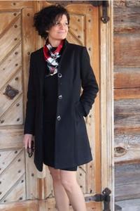 Płaszcz butik-choice.pl w stylu casual z tkaniny