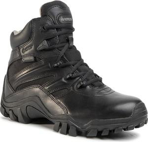 Buty trekkingowe Bates ze skóry z płaską podeszwą