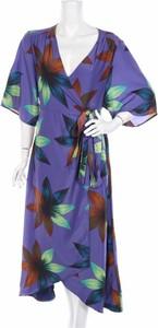 Sukienka Haoduoyi z długim rękawem kopertowa