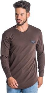 Brązowa koszulka z długim rękawem Gianni Kavanagh z długim rękawem w stylu casual
