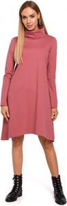 Sukienka MOE trapezowa z długim rękawem w stylu casual
