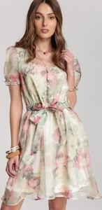Sukienka Renee rozkloszowana mini z dekoltem w kształcie litery v