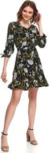 Sukienka Top Secret w stylu casual z dekoltem w kształcie litery v z długim rękawem