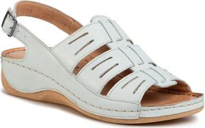 Sandały Pollonus w stylu casual na niskim obcasie