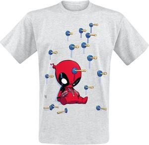 T-shirt Emp z nadrukiem z bawełny w młodzieżowym stylu