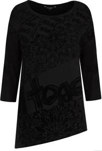 Czarna bluzka Desigual z okrągłym dekoltem w stylu casual