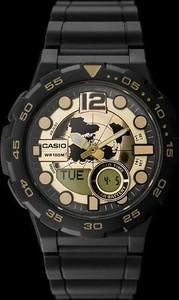 ZEGAREK MĘSKI CASIO AEQ-100BW 9AV (zd069a) - WORLD TIME