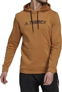 Brązowa bluza Adidas w sportowym stylu