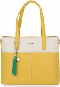 Żółta torebka David Jones duża